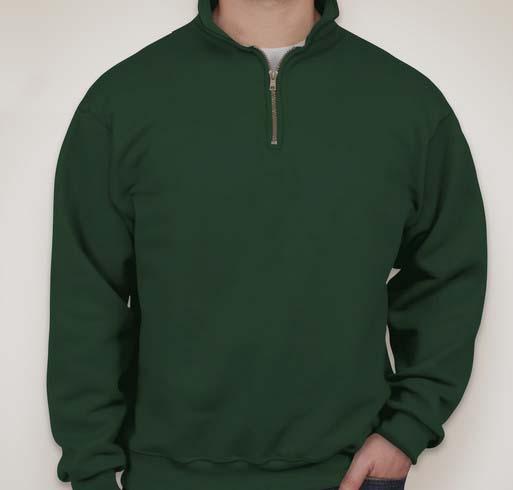JERZEES SUPER SWEATS - 1/4-Zip Sweatshirt with Cadet Collar
