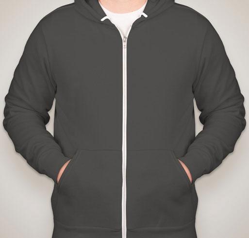 American Apparel Flex Fleece Drop Shoulder Pull Over Hoodie
